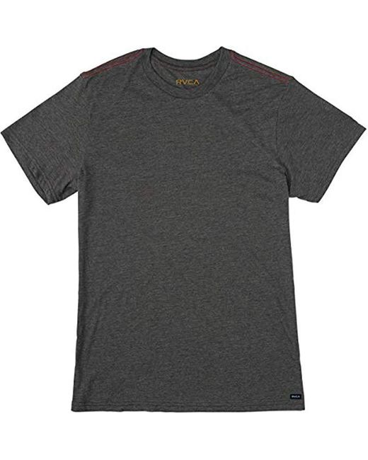 RVCA - Black Solo Label Short Sleeve T-shirt for Men - Lyst