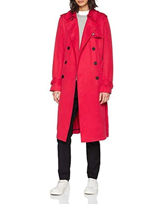 new styles 78360 9d647 Damen Shawn Trench Mantel in rot