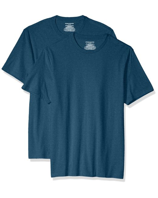 2-Pack Slim-Fit Short-Sleeve Crewneck T-Shirt Fashion-t-Shirts di Amazon Essentials in Blue da Uomo