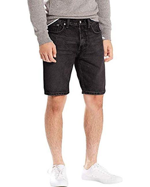 502 Taper Hemmed Short Levi's pour homme en coloris Black