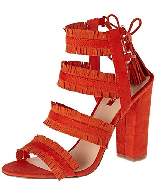 Guess - Orange Econi Fringe Sandal - Lyst