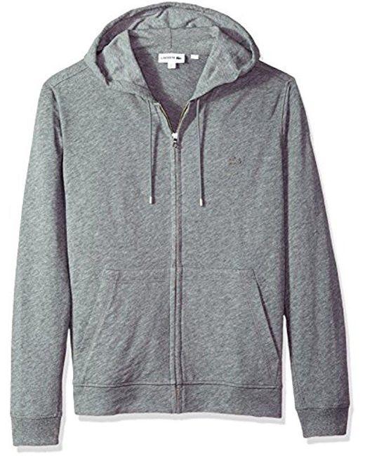 Lacoste - Gray Long Sleeve Athleisure Full Zip Hoodie Sweatshirt, Sh3305 for Men - Lyst