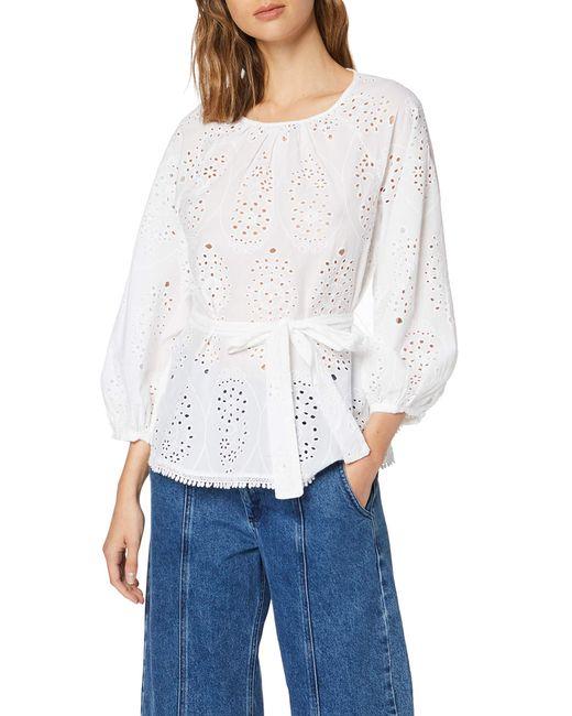 Blusa de ga Corta FIND de color White
