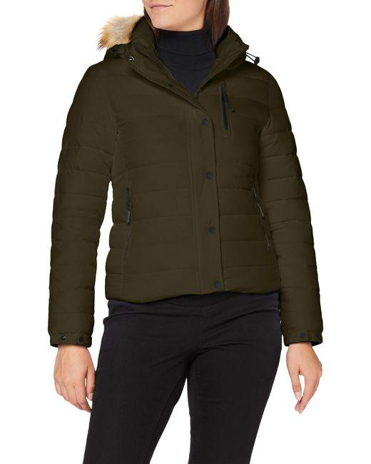 Classic Faux Fur Fuji Jacket Veste Superdry en coloris Green