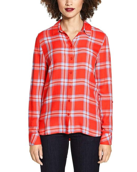 Street One Red 341258 Bluse