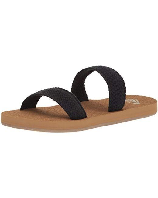 Roxy Black Sanibel Sandals Slide