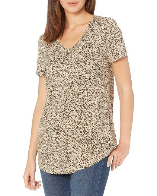 Tunica a iche Corte con Scollo a V. Fashion-t-Shirts di Amazon Essentials in Multicolor