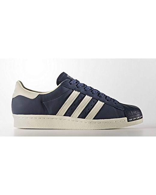 lyst adidas superstar scarpe originali in blu per gli uomini.
