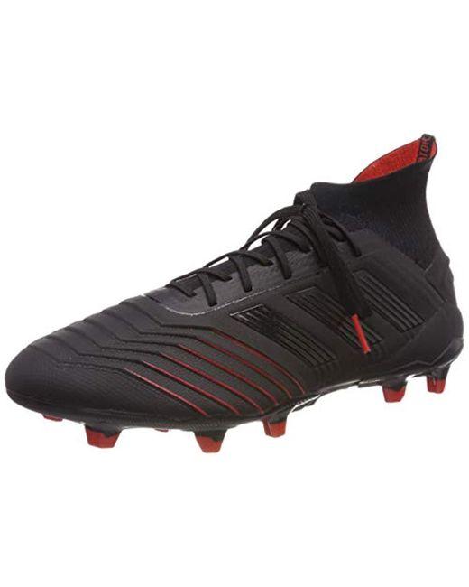 59c48a5710da Adidas - Black Predator 19.1 Fg Football Boots for Men - Lyst ...