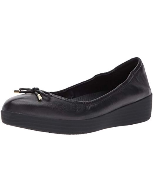 8f8655d5058052 Fitflop - Black Superbendy Ballerinas Closed Toe Ballet Flats - Lyst ...