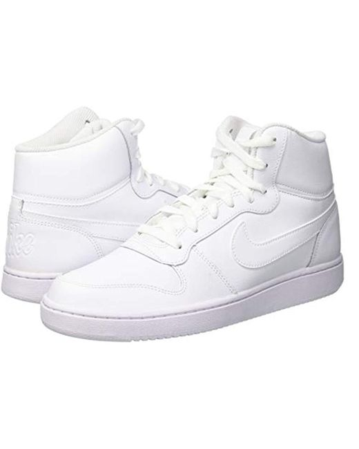c121765850 Nike Ebernon Mid Basketball Shoes in White for Men - Save 27% - Lyst