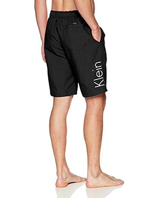 ... Calvin Klein - Black Solid Logo Board Short for Men - Lyst