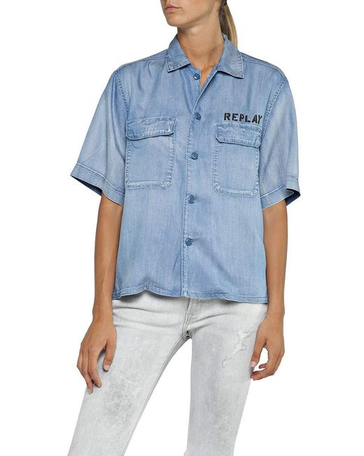 Replay Blue W2238A.000.54C 432 Bluse