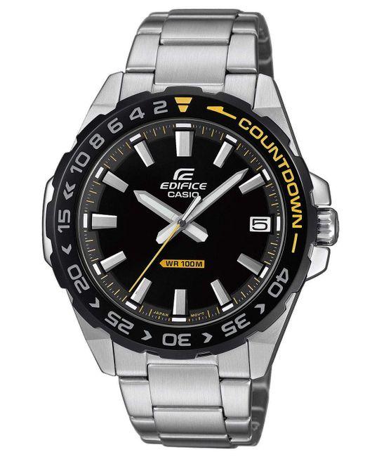 Orologio Analogico Quarzo Uomo con Cinturino in Acciaio Inox EFV-120DB-1AVUEF di G-Shock in Black da Uomo