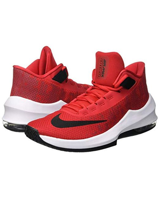 Men's Red Air Max Infuriate 2 Mid Low top Trainers