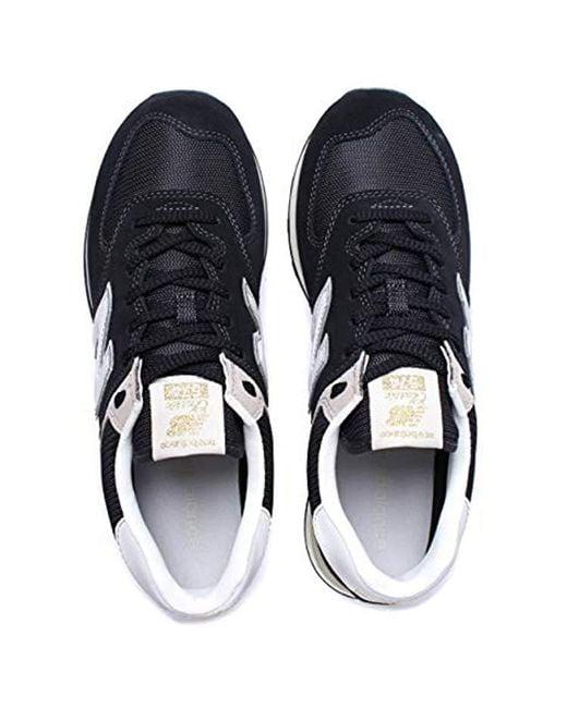 New in Black Balance 574v2 Dark Suede GreyBlack Trainers 5LRA3j4