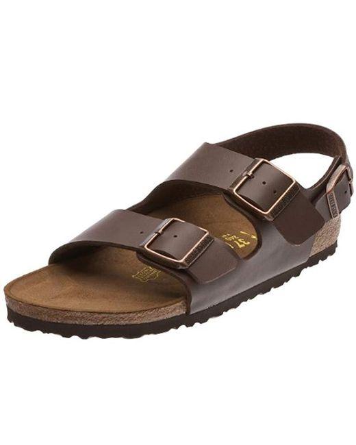 Birkenstock Brown Unisex Adults' Milano Sandals for men