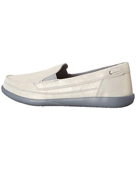 Crocs Walu Shimmer Leather Loafer RbqEycYkh