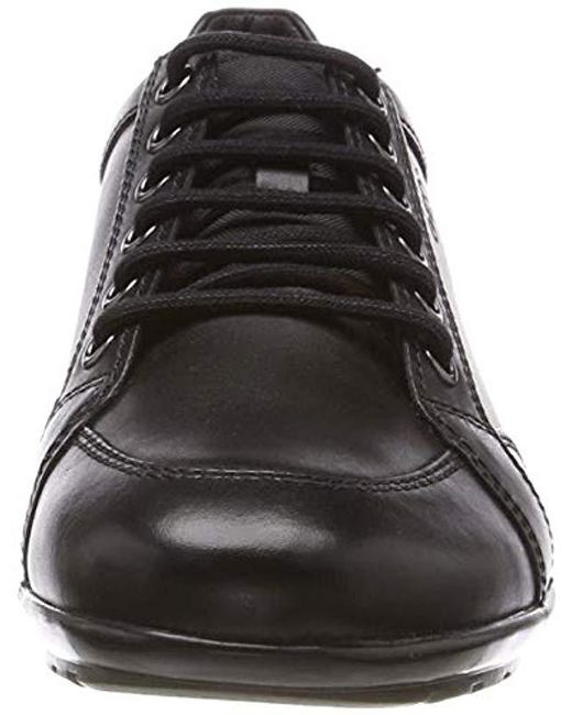 vast selection first look classic shoes Geox Leather U Symbol D in Black for Men - Lyst