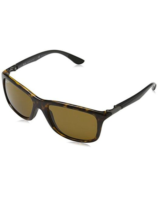 Ray-Ban - Injected Man Sunglass - Havana Frame Polar Brown Lenses 57mm  Polarized for ... 823f67521c49
