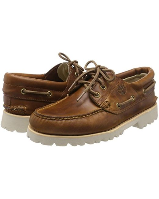 fecace4b105 Timberland Leather Chilmark 3-eye Handsewn Moccasins in Brown for ...