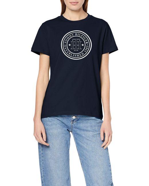 Tommy Hilfiger Blue Viola C-nk Tee Ss T-shirt