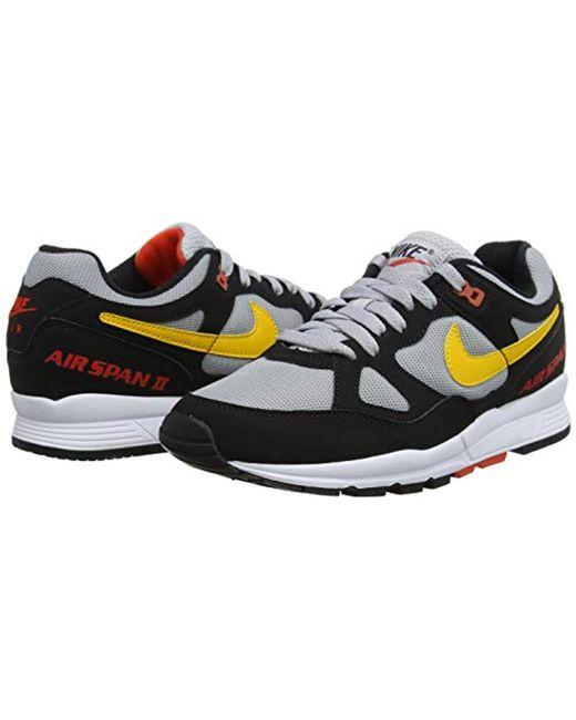 super popular 87a0d 2211b ... Nike - Air Span Ii Gymnastics Shoes, (black yellow Ochre wolf Grey ...