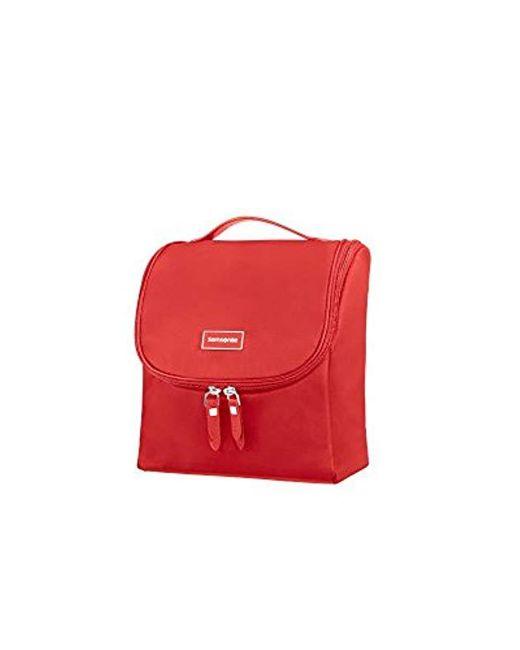 Samsonite Karissa Cosmetic Cases - Hanging Toilet Kit Toiletry Bag, 23 Cm, 2 Liters, Red (formula Red)