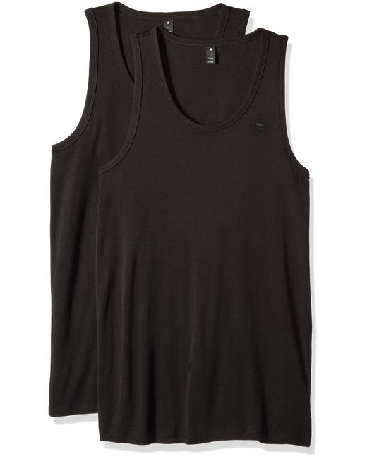 G-Star RAW Black Base Tank T 2-pack Kniited Top for men