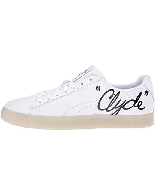 timeless design d896b b0f65 Women's Clyde Signature Ice White Black 8.5 D Us