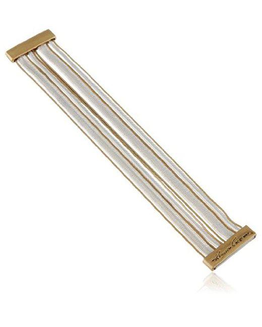 Kenneth Cole - Metallic Mixed Multi-chain Bracelet - Lyst