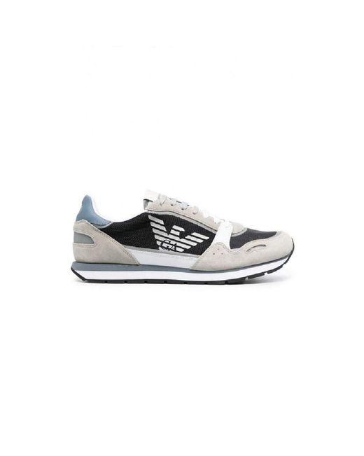 Emporio Armani Sneakers aus Leder mit Logo für X4X537 XM678 in White für Herren