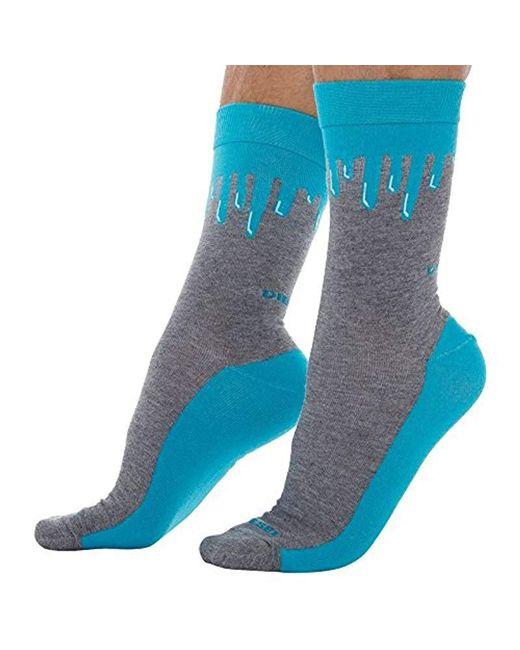 DIESEL Blue Ray 2 Pack Printed Socks for men
