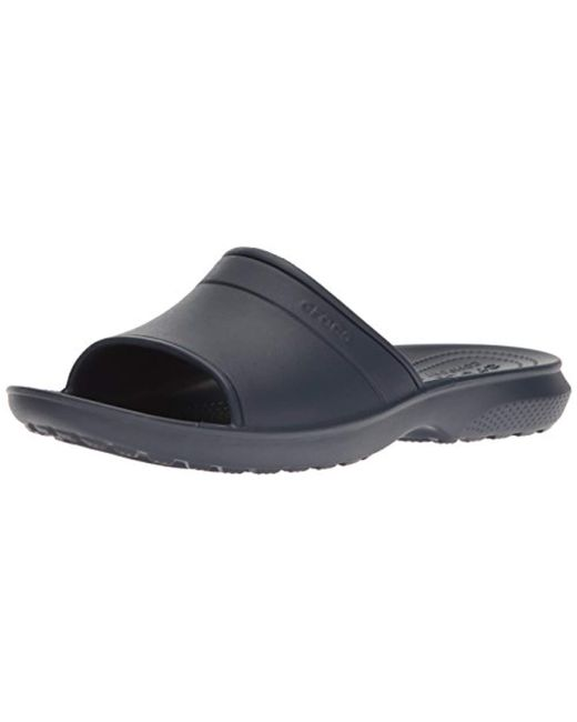 da4ada343 Crocs™ Unisex Adults Classic Slide Sandals in Blue for Men - Save 18 ...
