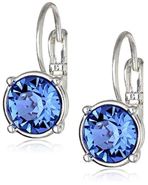 Nine West - Blue Party Time Swarovski Drop Earrings - Lyst
