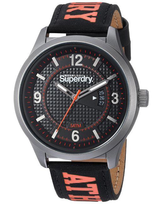 SYG164BW Montre Bracelet Mixte Adulte Silicone Noir Superdry pour homme en coloris Black