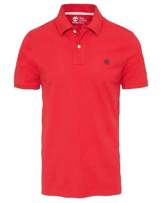 CA1S56 Polo Timberland pour homme en coloris Red