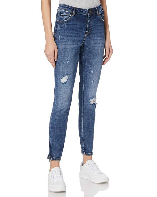 Vero Moda Blue Vmtilde Mr S Ankle Zip Dstr J Li355 Noos Jeans