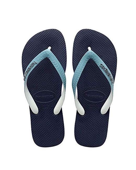 Havaianas Blue Flip Flop Sandals, Top Mix