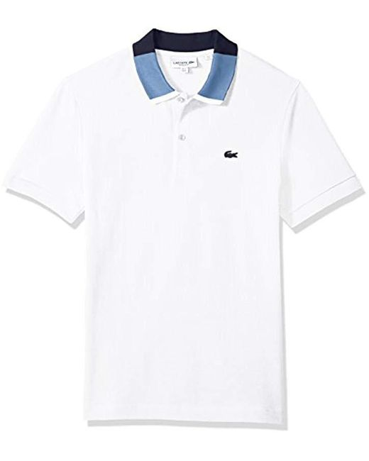 Lacoste - Multicolor Short Sleeve Petit Pique Color Block Collar Reg Fit Polo, Ph7221 for Men - Lyst