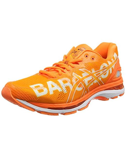 size 40 ef1fb d9b2c Men's Orange Gel-nimbus 20 Barcelona Marathon Competition Running Shoes