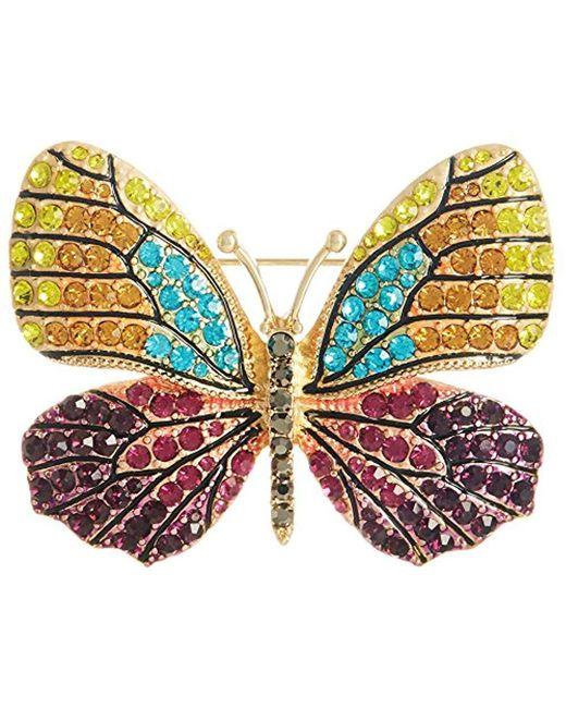 Napier - Multicolor Multi-tone Butterfly Brooch Pin - Lyst