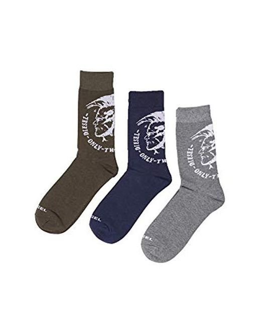DIESEL Multicolor Skm-ray-threepack Calf Socks, Pack Of 3 for men