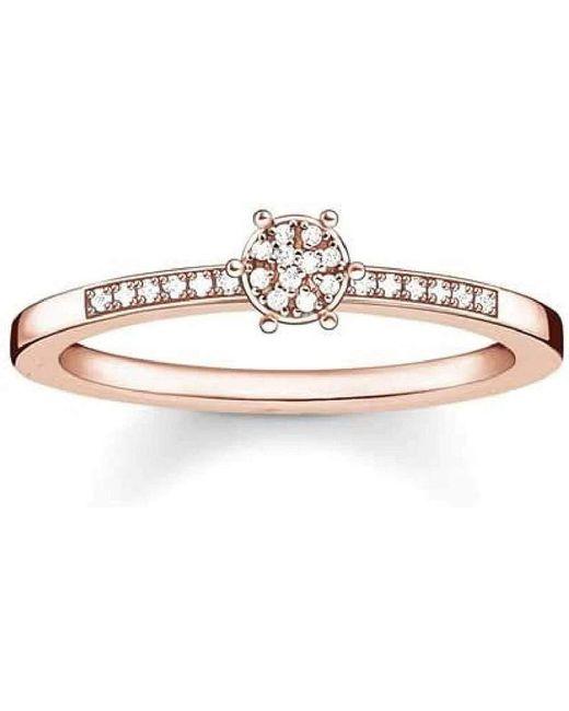 925 Argent|#Silver Blanc Diamant FINERING Thomas Sabo en coloris Metallic