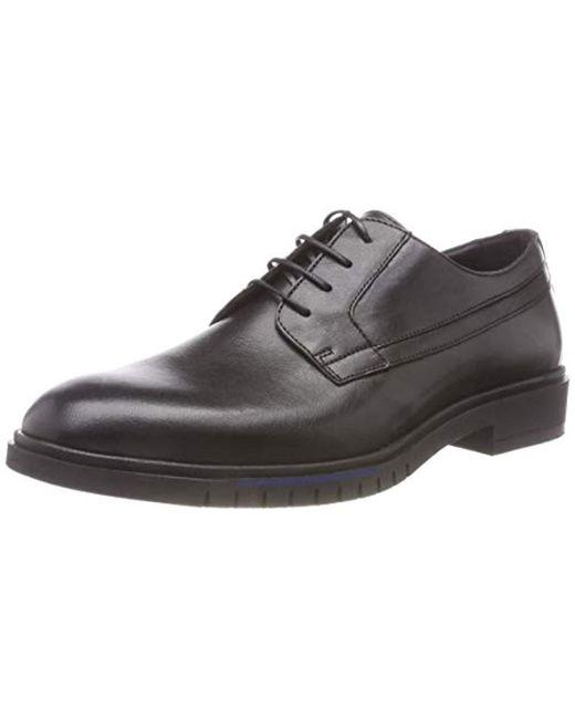 Men's Black Flexible Dressy Leather Shoe Derbys