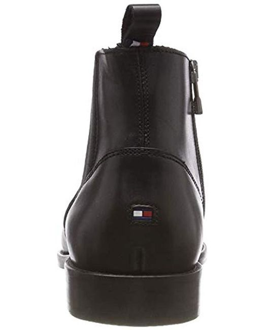 48b44b899 ... Lyst Tommy Hilfiger - Black  s Essential Leather Toecap Chelsea Boots  for Men ...