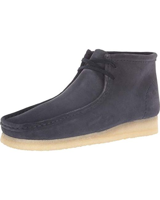 Clarks - Blue Wallabee Boot for Men - Lyst