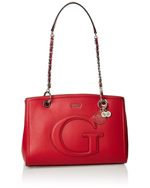 Lipstick Chrissy Girlfriend Satchel di Guess in Red