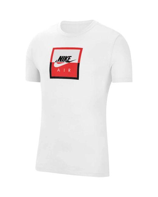 Nike Sportswear T-Shirt weiß-schwarz M in White für Herren