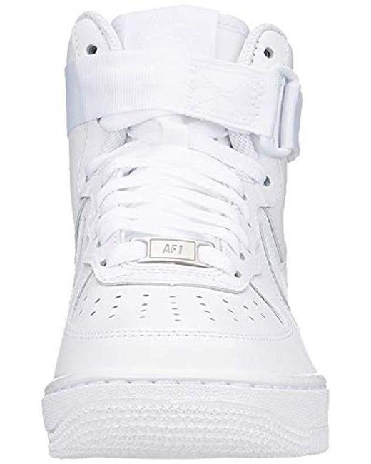 9d0e0513df27e Nike Wmns Air Force 1 High, Basketball Shoes, White (white 105), 9 ...